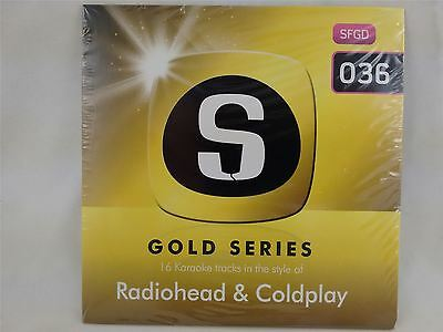 Sunfly Karaoke Gold Series Volume 36 Radiohead & Coldplay CD+G New Sealed