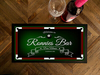 Personalised Welcome Pool Table Beer bar runner mats