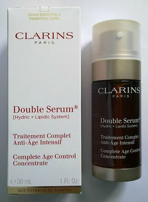 Clarins Paris Double Serum Anti-Age Visage & Cou 30 Ml Neuf