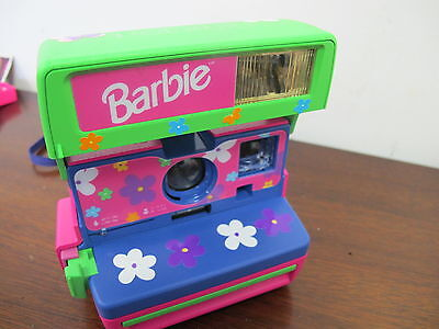 Barbie Polaroid Camera Real Working Pink Green Flower Decals