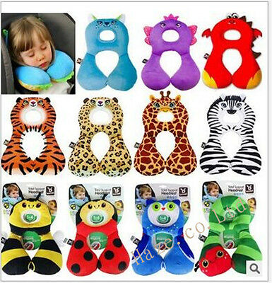 Baby Child Head Neck Support Protect Headrest Travel Car Seat U Pillow Cushion