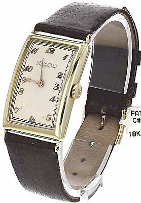 Patek Philippe 18k Gold Rare Vintage Curved Watch Circa 1920 FREE 1 DAY SHIPPING