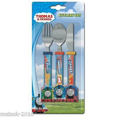 Spearmark Thomas and Friends Childrens 3 Piece Cutlery Set Age 3 + Pattern TNS