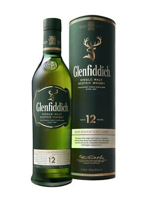 Glenfiddich 12 Year Old Single Malt Scotch Whisky 700Ml