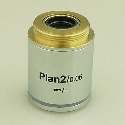 2X Infinity Plan Achromatic Microscope Objective Infinite Lens - Brand New