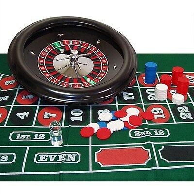 "18"" Professionally Balanced Roulette Wheel & Set-Up Kit High Quality - 100 Chips"