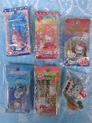New Sanrio Hello Kitty Japan Limited Gotochi Carm Strap Key Chain Set Of 5