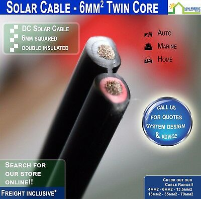 6mm2 TWIN CORE solar cable