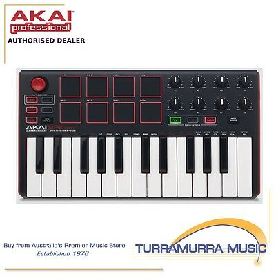 Akai MPK Mini MK2 portable USB MIDI controller keyboard