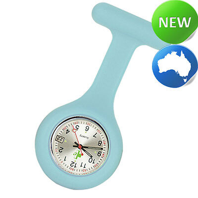 Nurse Silicone FOB Watch with Date Function - Pastel Teal
