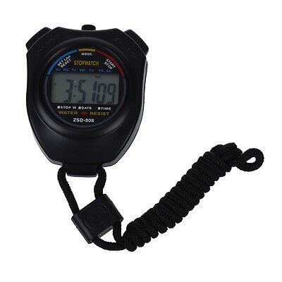Sunny Hot Sale Practical Digital Chronograph Sports Stopwatch with Neck Strap