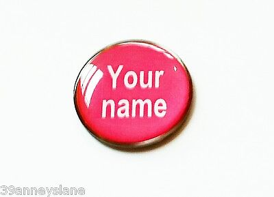 anneys ~ GOLF  BALL  MARKER - * your OWN PERSONALISED MARKER!! *  ~ Pink.