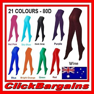 80D Opaque Pantyhose Colored Tights Stockings Gym Yoga Sport Party Sexy Clubwear