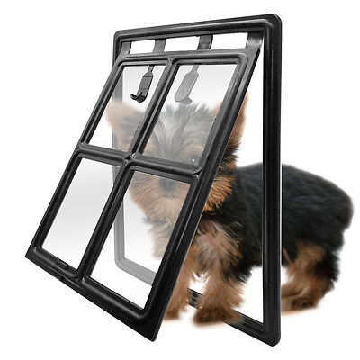 Easy Screen Lockable Magnet Position Pet Cat Dog Doors For Medium Large Dogs