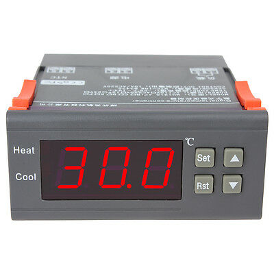 Mini DC 12V 10A LCD Digital Temperature Controller Thermostat with Relay Alarm
