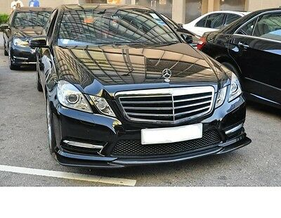 For Mercedes Benz W212 E63 AMG 2010-2012 only Add Carbon Fiber Front lip Spoiler