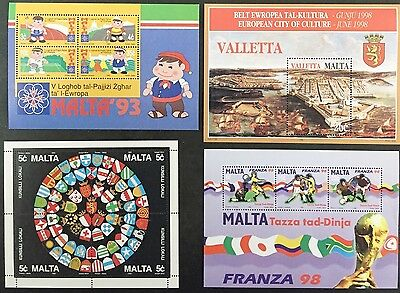 Malta Stamps Miniature Sheets 12 13 16 17 Mint Never Hinged MNH