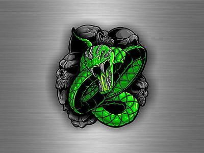 Autocollant sticker voiture moto macbook tuning tete de mort serpent