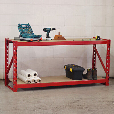 Heavy Duty Metal Workbench For Garage/workshop/shed Work Bench /station Red 1...
