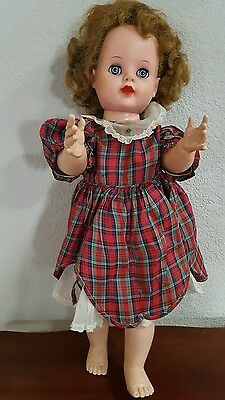 Vintage Doll from the 50's Hard Plastic and Vinyl  Walking
