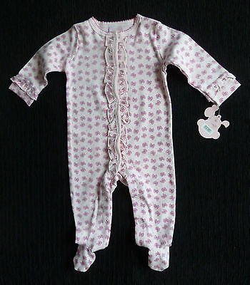 Baby clothes GIRL 3-6m NEW Rock-a-Bye-Baby pink bows frill babygrow COMBINE POST