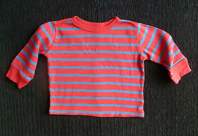 Baby clothes BOY 9-12m GAP red/blue stripe long sleeve t-shirt/top SEE SHOP!