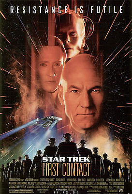 1996's STAR TREK: FIRST CONTACT rolled original 27x41 O/S poster