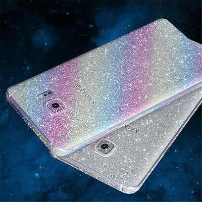 Protection Full Body Glitter Bling Decals Film Sticker For Samsung S7 Edge Note5