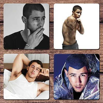 Nick Jonas Coaster Set NEW Area Code Chains Jealous Teacher Levels Sexy Hot Guy