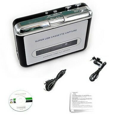USB Tape to PC Cassette to MP3/PC Converter Captue Adapter Audio Music Player UK