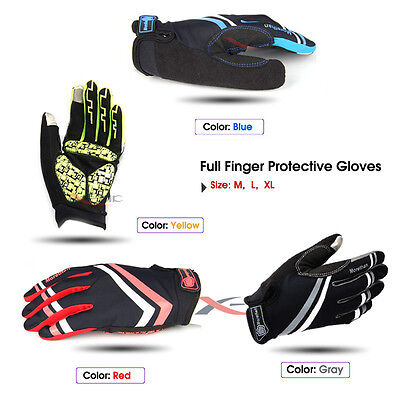 Cycling Full Finger Gloves Mitts Racing Mountain Bike Bicycle Motocross M L XL