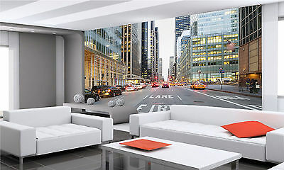 Photo Wallpape  NY City from Street GIANT WALL DECOR PAPER POSTER FREE PASTE