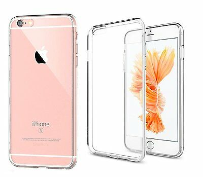 Ultra Thin Clear Transparent Crystal Soft TPU Silicone Gel Cover Case for iPhone