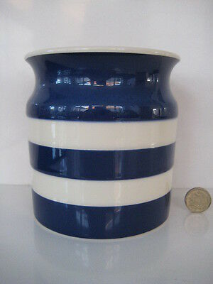 Rare  Colour T G Green Cornishware Cornish Dark Navy Blue Utensil Holder England