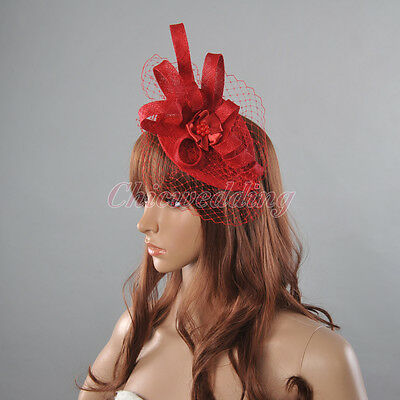 New Beaded Church kentucky Derby hat Cocktail Sinamay Fascinator Hat w headband