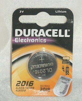 Duracell 2016, 3V Lithium [ Also know as: DL2016 / CR2016 / KCR2016 ] Pack of 2