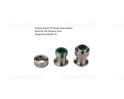 USA New KF25 Gauge Tube Adapter Quick Flange Fitting  Vacuum Stainless Steel 304
