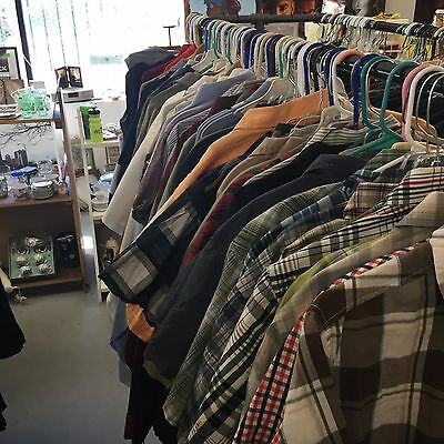Thirft Store Liquidation 50 Pc Mens Shirts Used Clothing Bulk Wholesale Lot