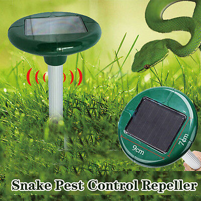 Solar SNAKE Repeller Multi Pulse Plus Ultrasonic&Pest Rodent Repellent  LED