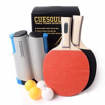 CUESOUL Tennis Tennis Set Retractable Anywhere with 2 Paddles and 4 Balls M1102