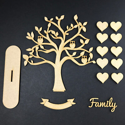 MDF Wooden Family Tree Stand Blank Make your Own Code Stand Owl Kit