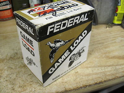 FEDERAL CARTRIDGE SHOTGUN SHELL BOX GAME LOAD EMPTY PAPER shot 12 gauge 6