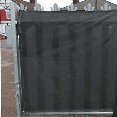 98% Shade Netting Grey 1m x 10m and for Privacy Screening Windbreak Garden Fence