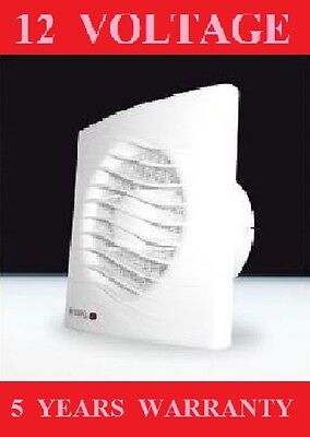"""Bathroom  Extractor Fan White Low Voltage 12V Ac Wall/ceiling 100/4"""" Shower Area"""