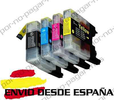 4 CARTUCHOS COMPATIBLES NonOem BROTHER LC1240 LC1280 MFC-J6510DW MFCJ6510DW