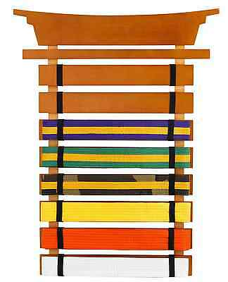 Martial Arts Karate Tae Kwon Do 8-Belts Progress Display Wall Mount Rack Holder