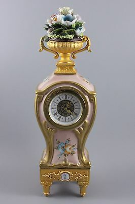 Capodimonte Tiche Porcelain Mantel Clock WorldWide