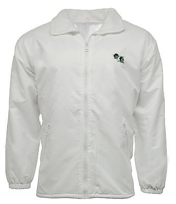 Bowls Mesh Lined Waterproof Hooded Jacket With Logo   Lawn Bowling