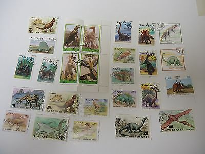 Stamps 26 Dinosaurs  From All Over The World All Different And Good Quality