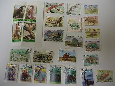 Stamps 25 Dinosaurs  From All Over The World All Different And Good Quality